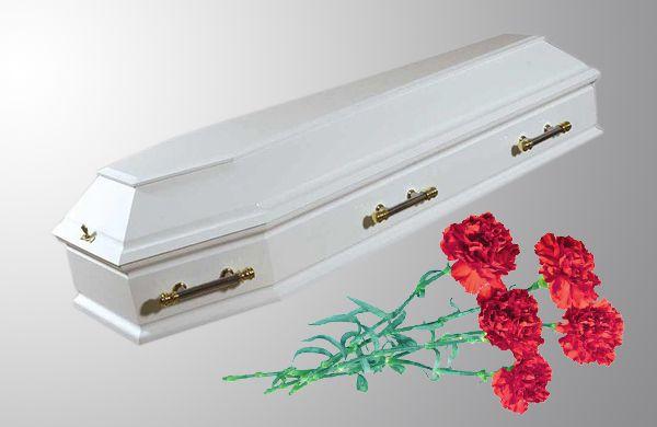 Гроб Корсика белый