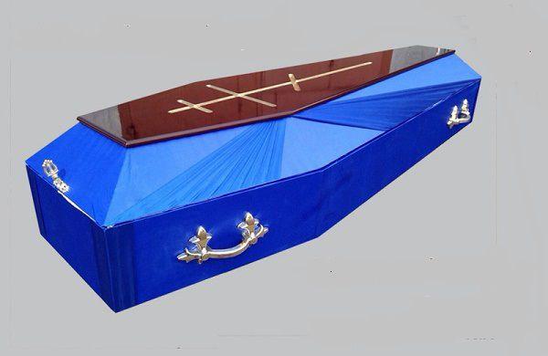 Гроб комбинированный Аргентина синий
