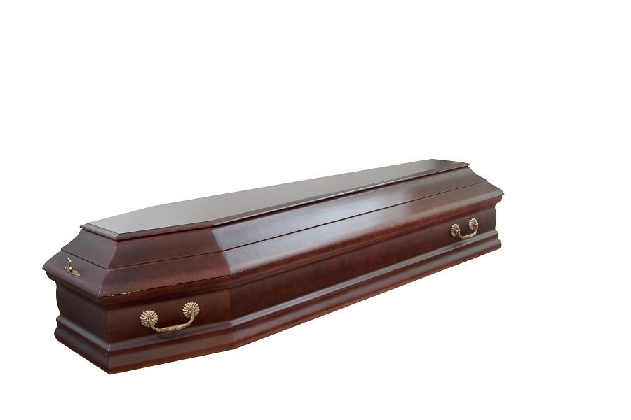 Гроб лакированный Канзас матовый дорогой