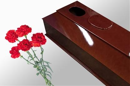 Гроб с окошком купить в спб